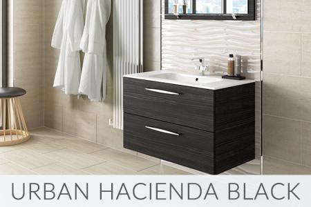 Urban Hacienda Black Bathrooms