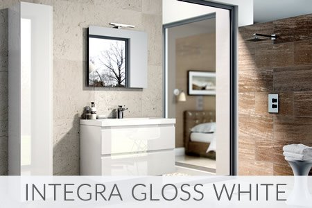 Integra Gloss White Bathrooms