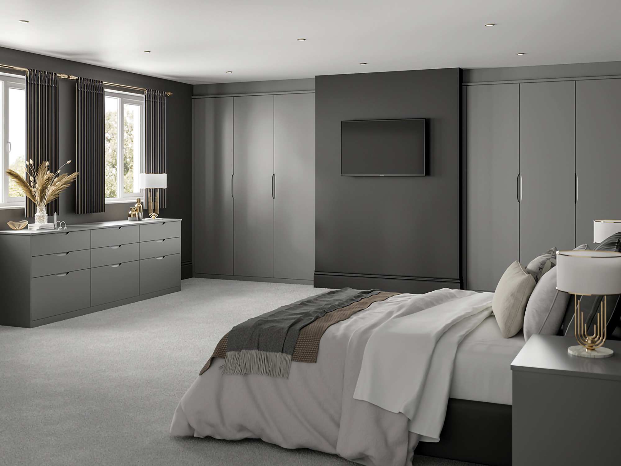 Essenza Dust Grey Bedroom