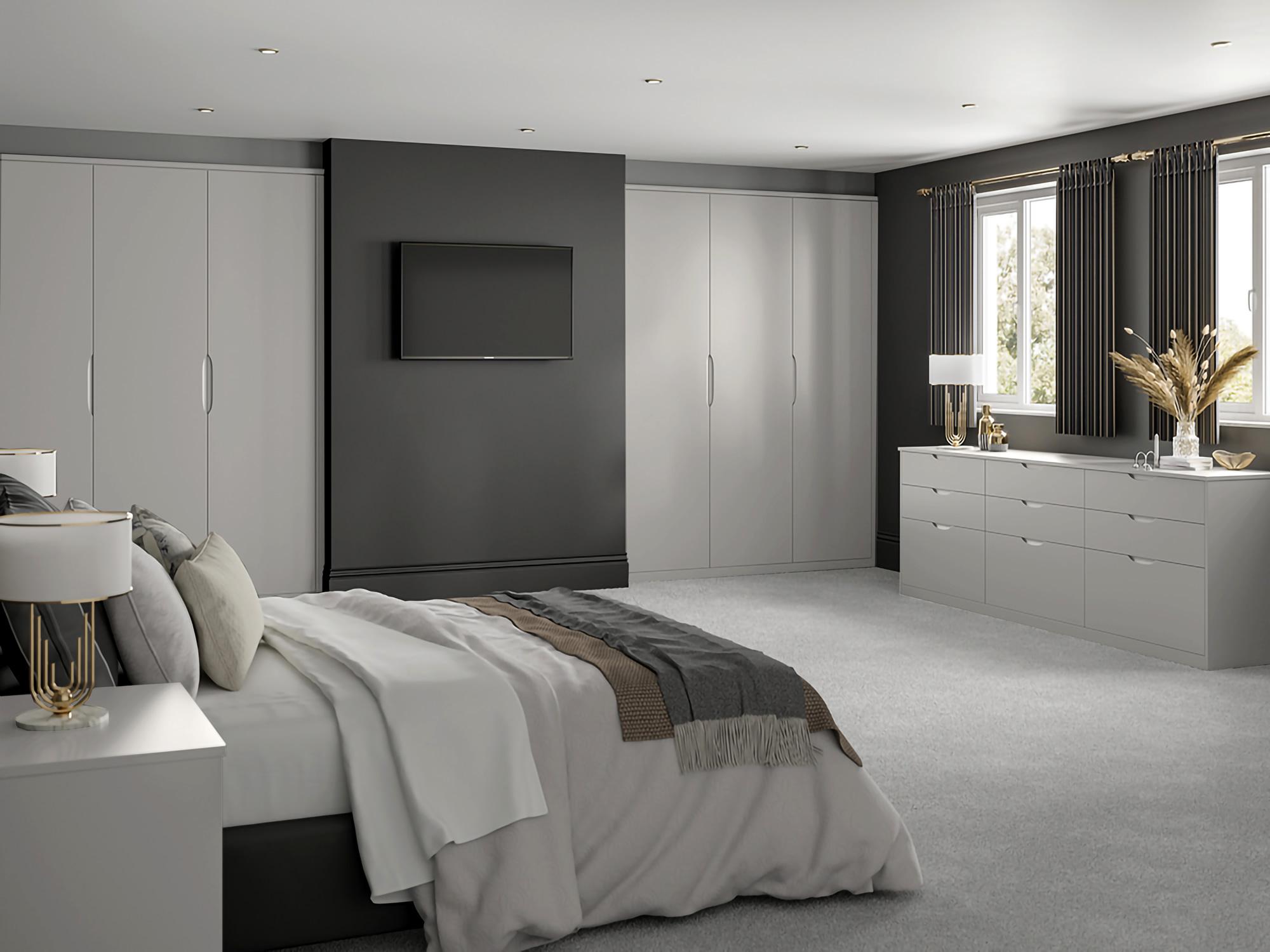 Essenza Grey Mist Bedroom