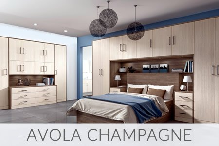 Avola Champagne Fitted Wardrobes