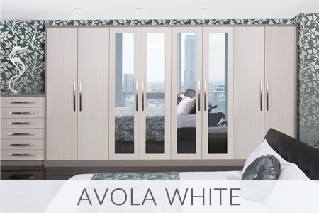 Avola White Fitted Wardrobes