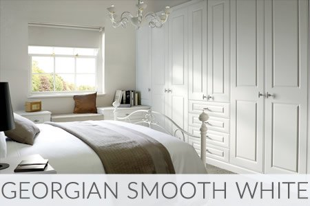 Georgian Smooth White Fitted Wardrobes