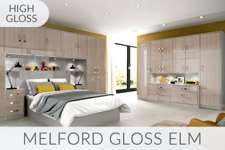 Melford Gloss Elm Fitted Wardrobes