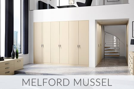 Melford Mussel Fitted Wardrobes