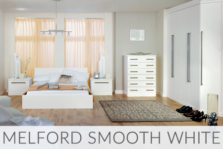 Melford Smooth White Fitted Wardrobes