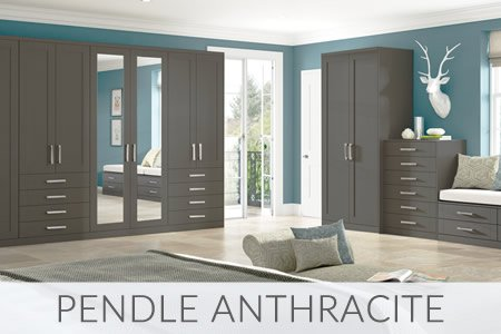 Pendle Anthracite Fitted Wardrobes