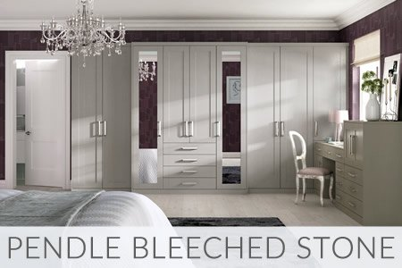 Pendle Bleeched Stone Fitted Wardrobes