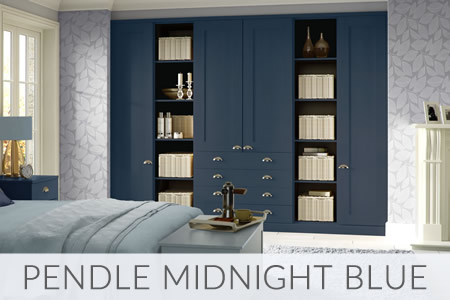 Pendle Midnight Blue Fitted Wardrobes