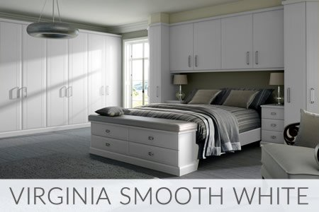 Virginia Smooth White Fitted Wardrobes